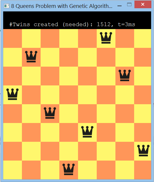 Eight Queens Puzzle Screenshot